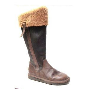 UGG BOOTS BOMBER leather LOCARNO 5191 hiking 5 EUC